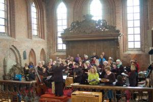 Zangdocent Cobien Nieuwpoort tijdens scratchdag in Groningen