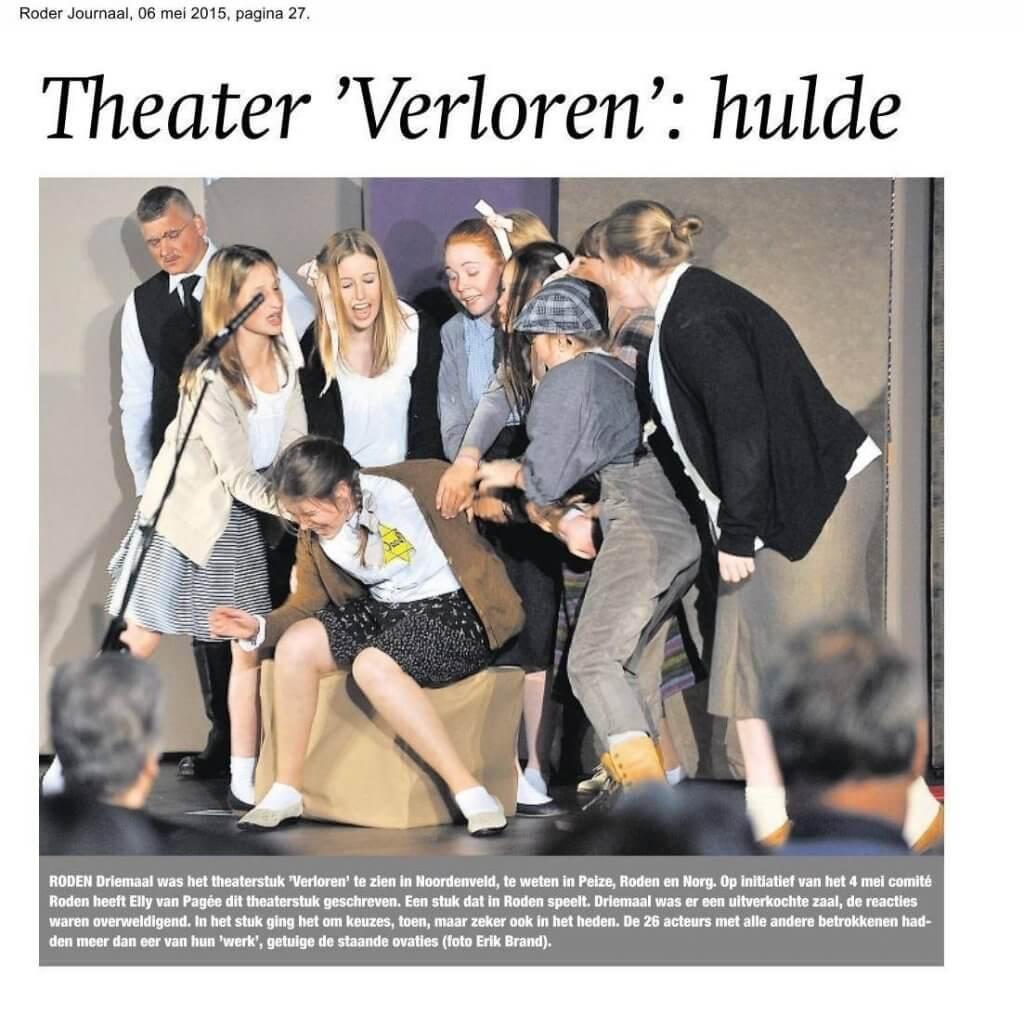 Foto Muziektheater Verloren bij artikel in Roder Journaal